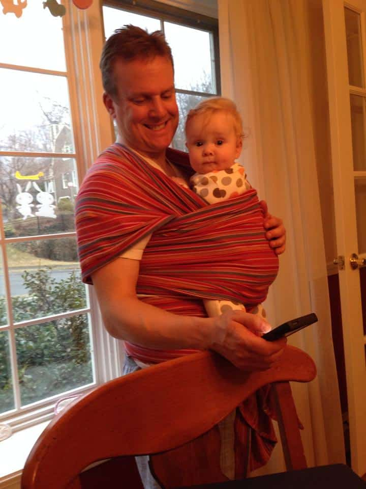 Baby wearing dad Jeff with baby Justin. Multitasking, of course! - Robin Rubin
