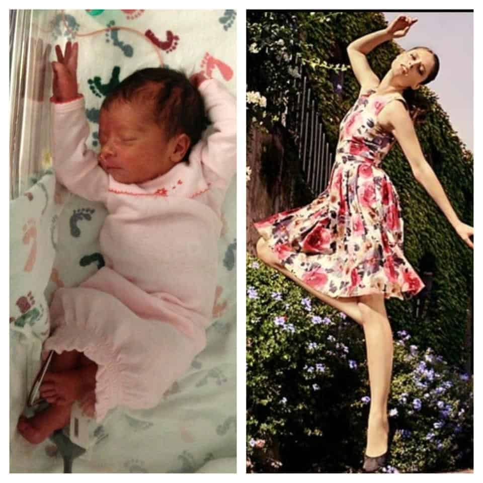 Baby Savannah posed with Coco Rocha (mom Jessica Roe)