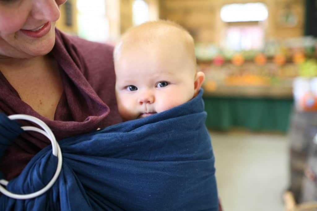 baby in ring sling