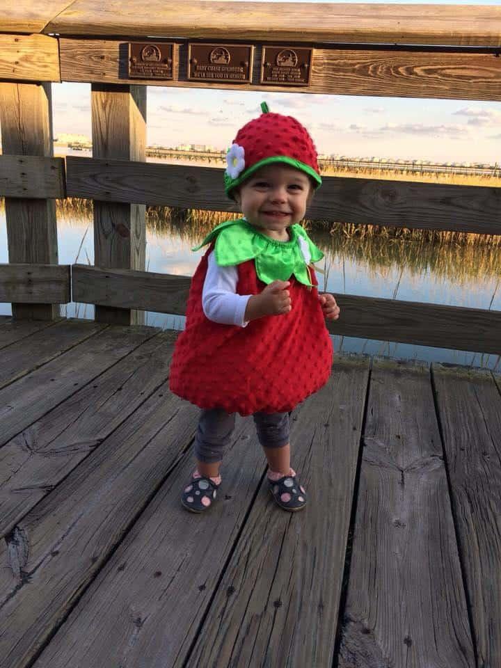 Adelia as a strawberry