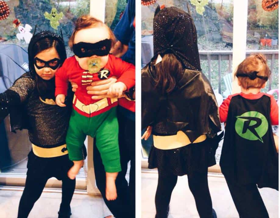 Sadie and Dalton as Batgirl and Robin