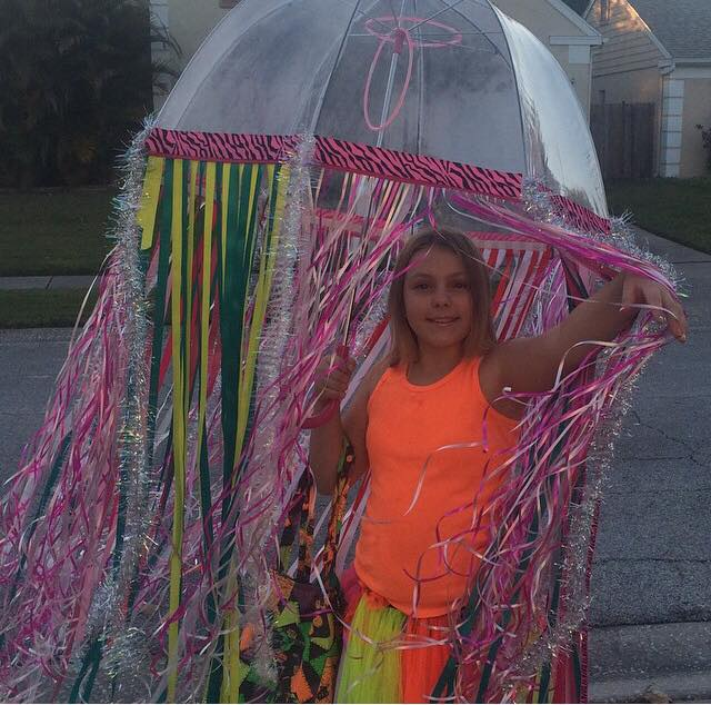 Scarlett as a Homemade Jellyfish