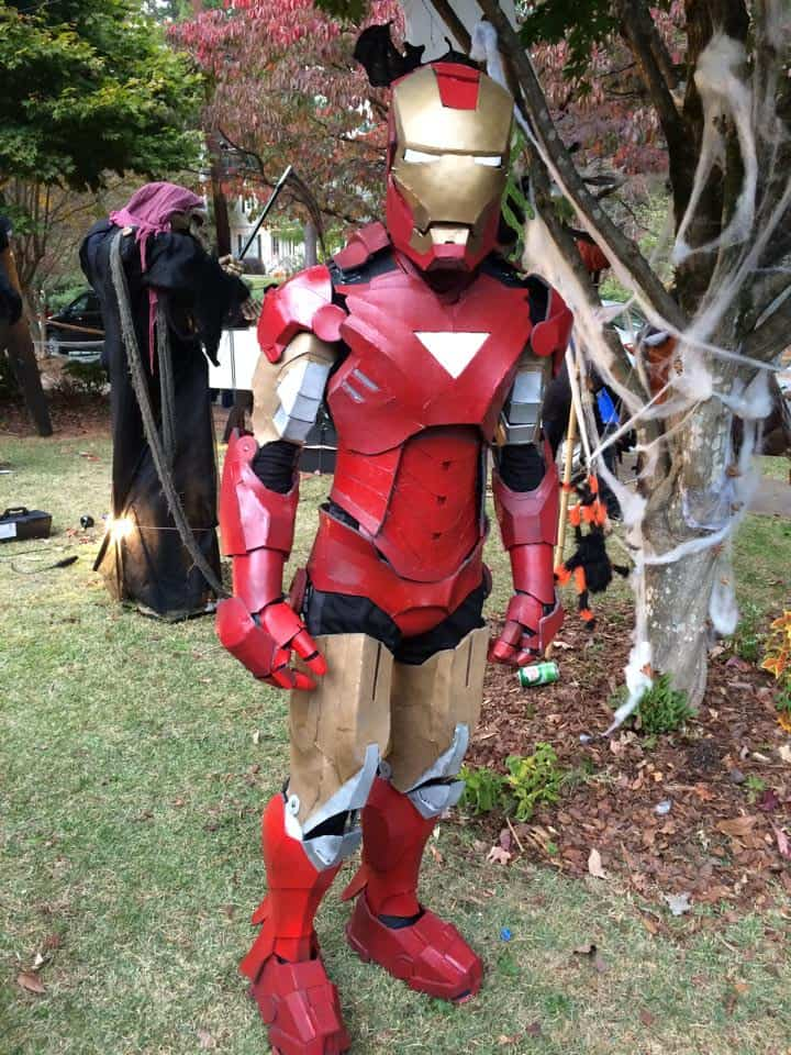 Tynan as Iron Man (handmade by himself)