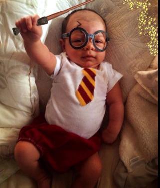 Xander as Harry Potter 'Diaper of Secrets'