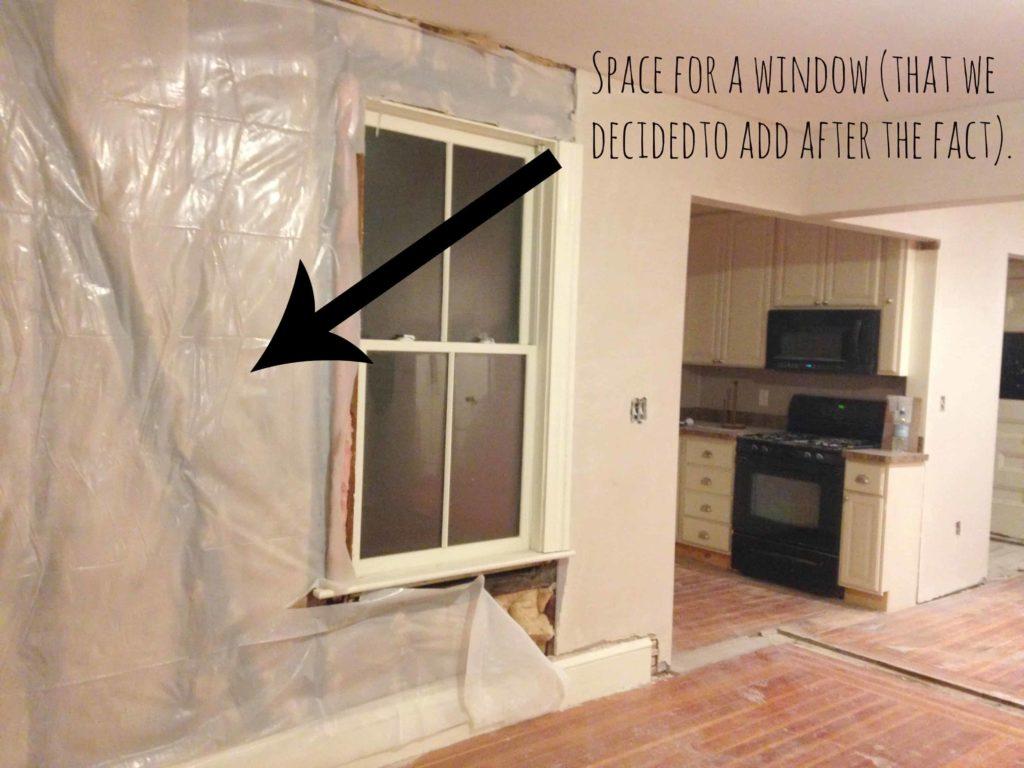window hole