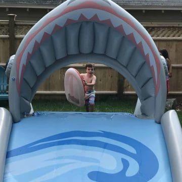water slide for backyard
