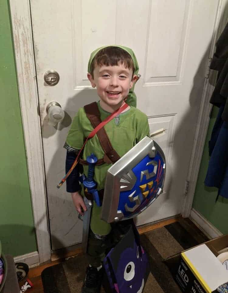 Boy in Zelda costume