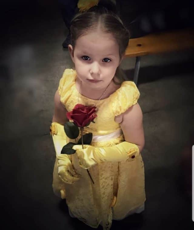 Girl in Disney Princess costume