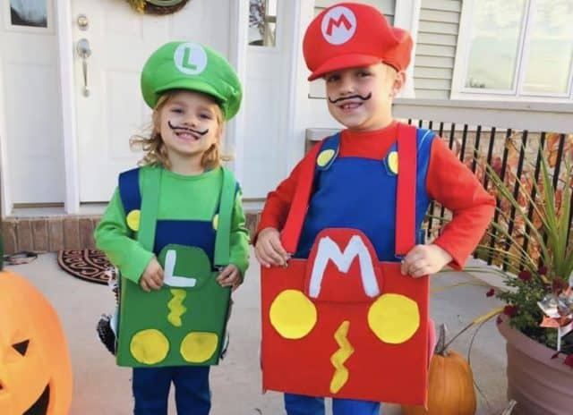 Mario and Luigi costumes for kids