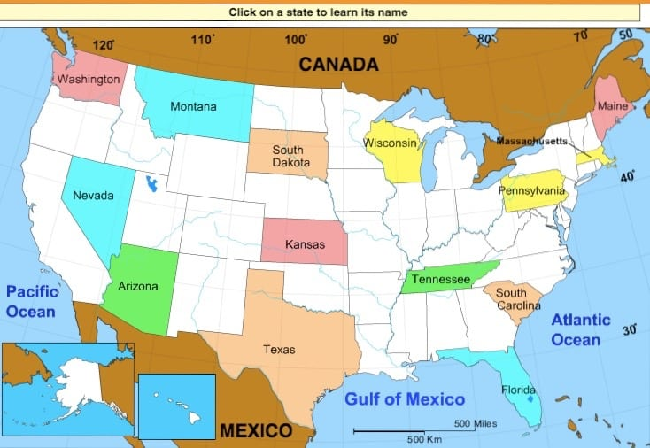 Sheppard Software USA Geography Game
