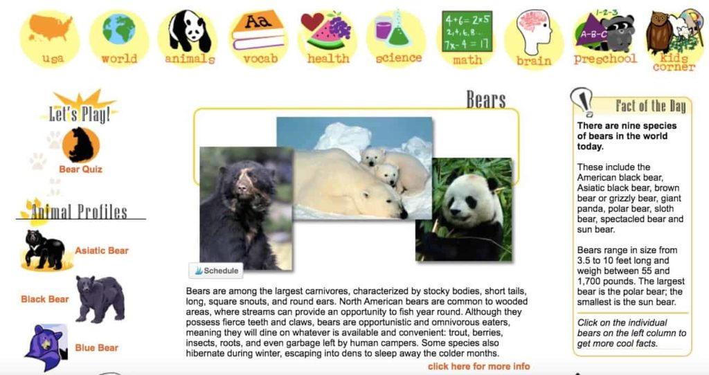 Sheppard Software Animals Game