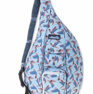 Blue over the shoulder diaper bag