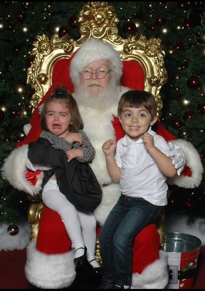 santa scaring kids