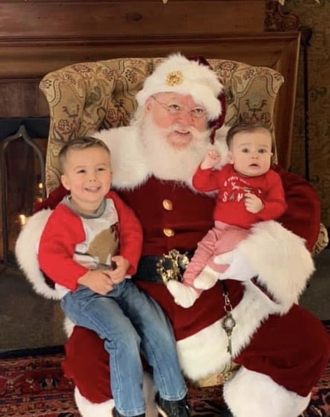 calm kids with Santa