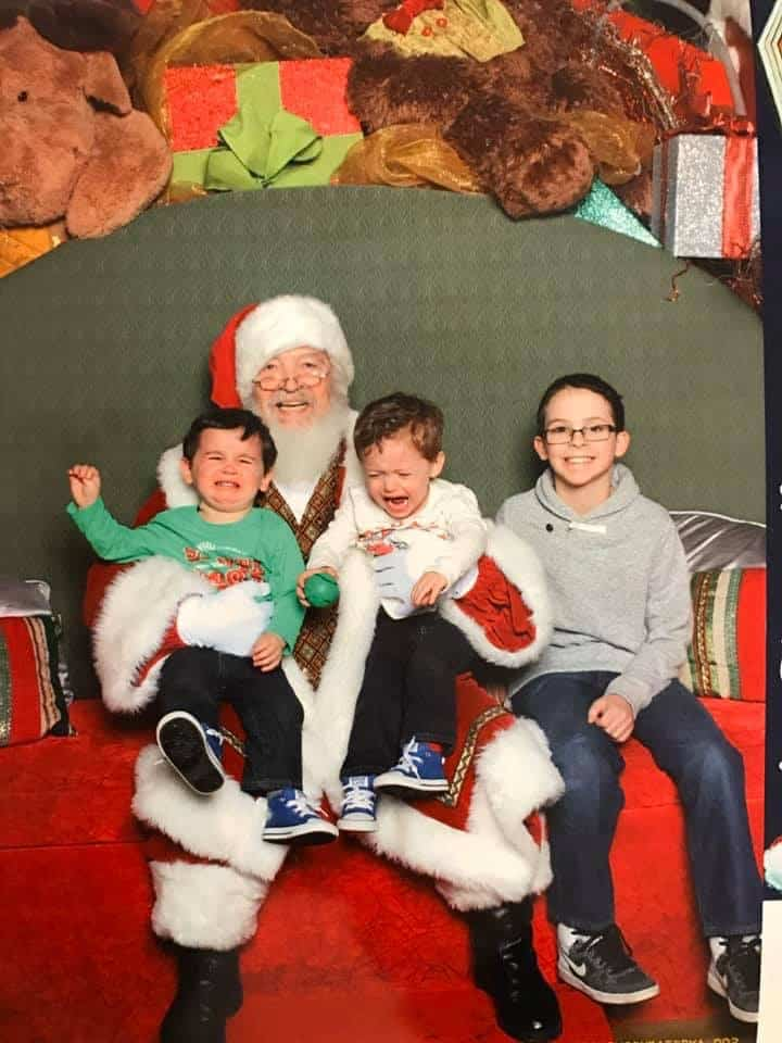 brothers with Santa