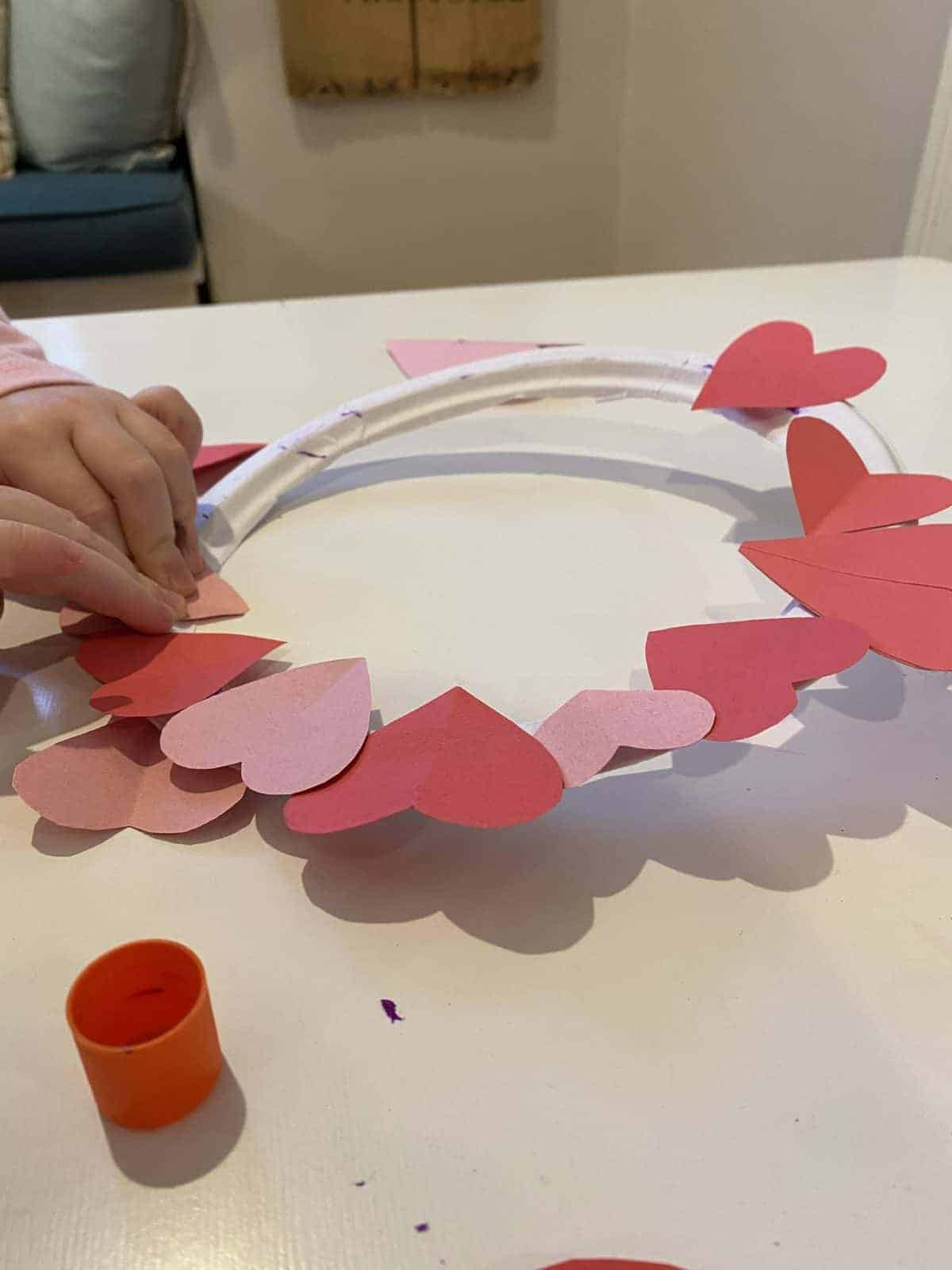 valentine's day paper wreath craft