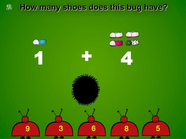 screen shot of Sheppard software addition math game for young children