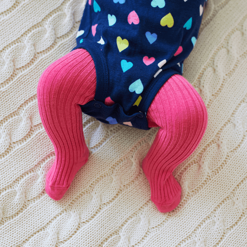 pink baby tights
