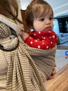 Baby in Moby ring sling