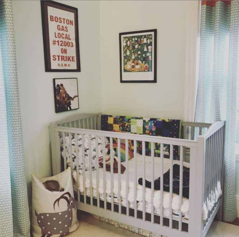 crib in baby nursery