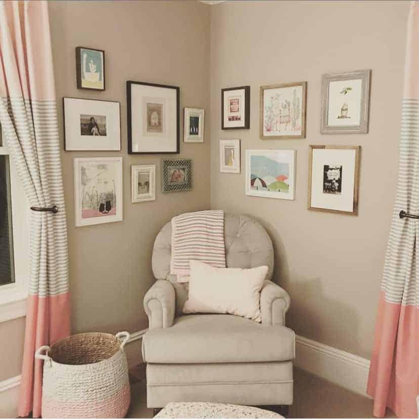 gallery wall in baby's nursery