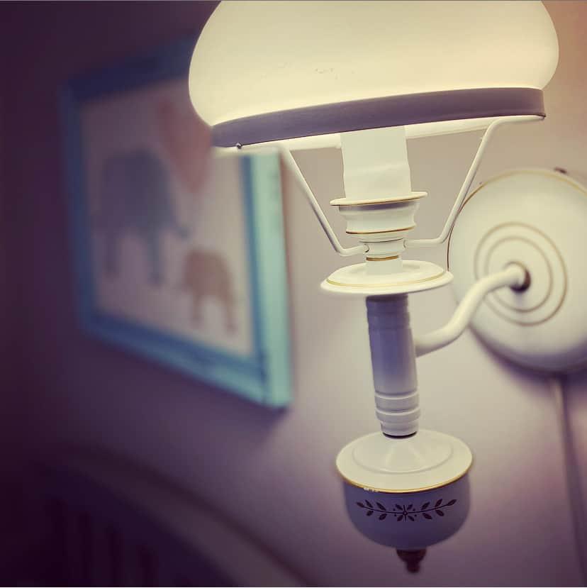 wall lamp in nursery