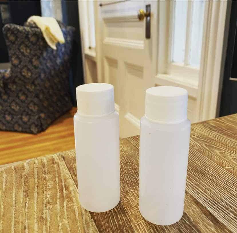 travel sized bottles