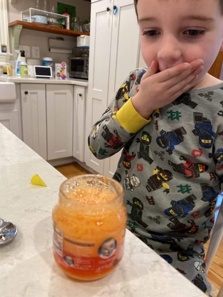 fuzzy foam science experiment