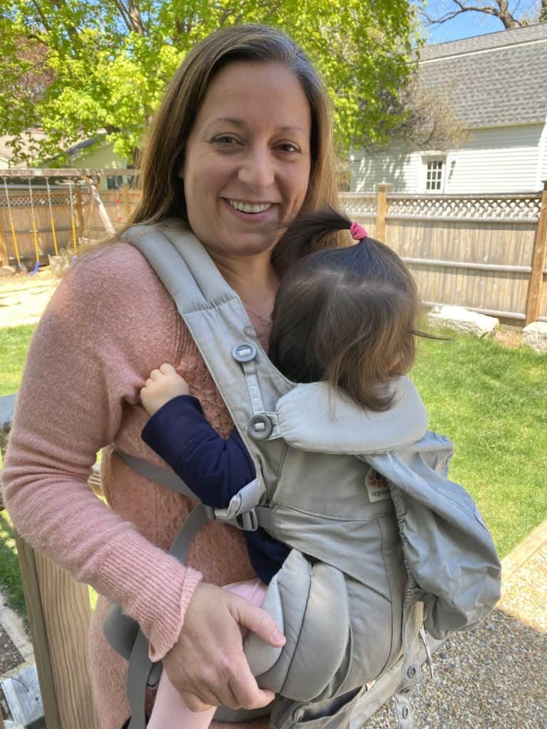 mom and baby using the Ergo Omni 360 baby carrier