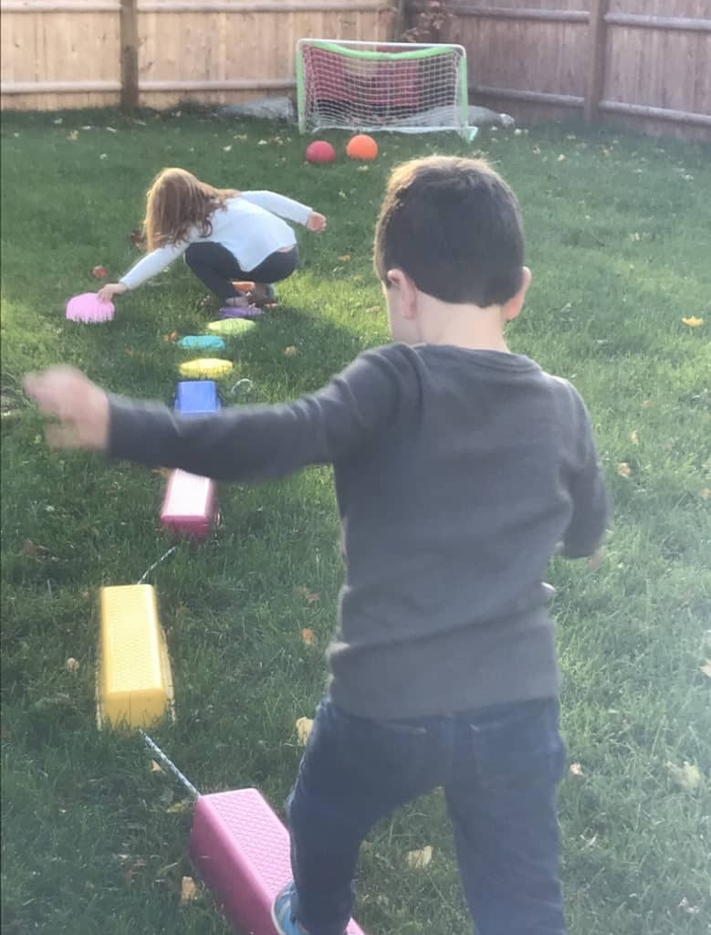 kids on obstacle course