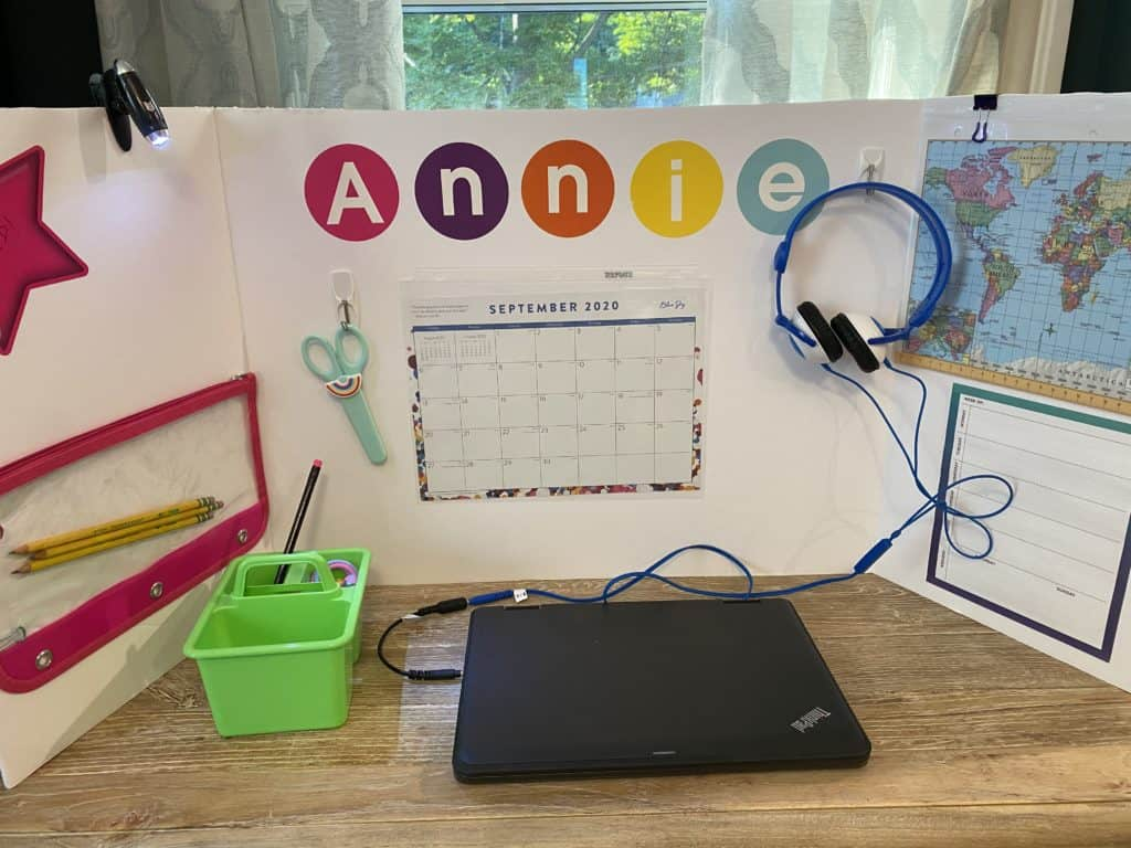 Foam board work station for kids