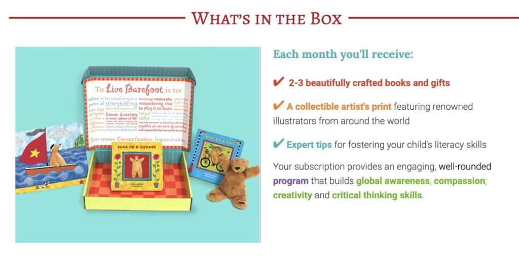 details about Barefoot Books subscription box